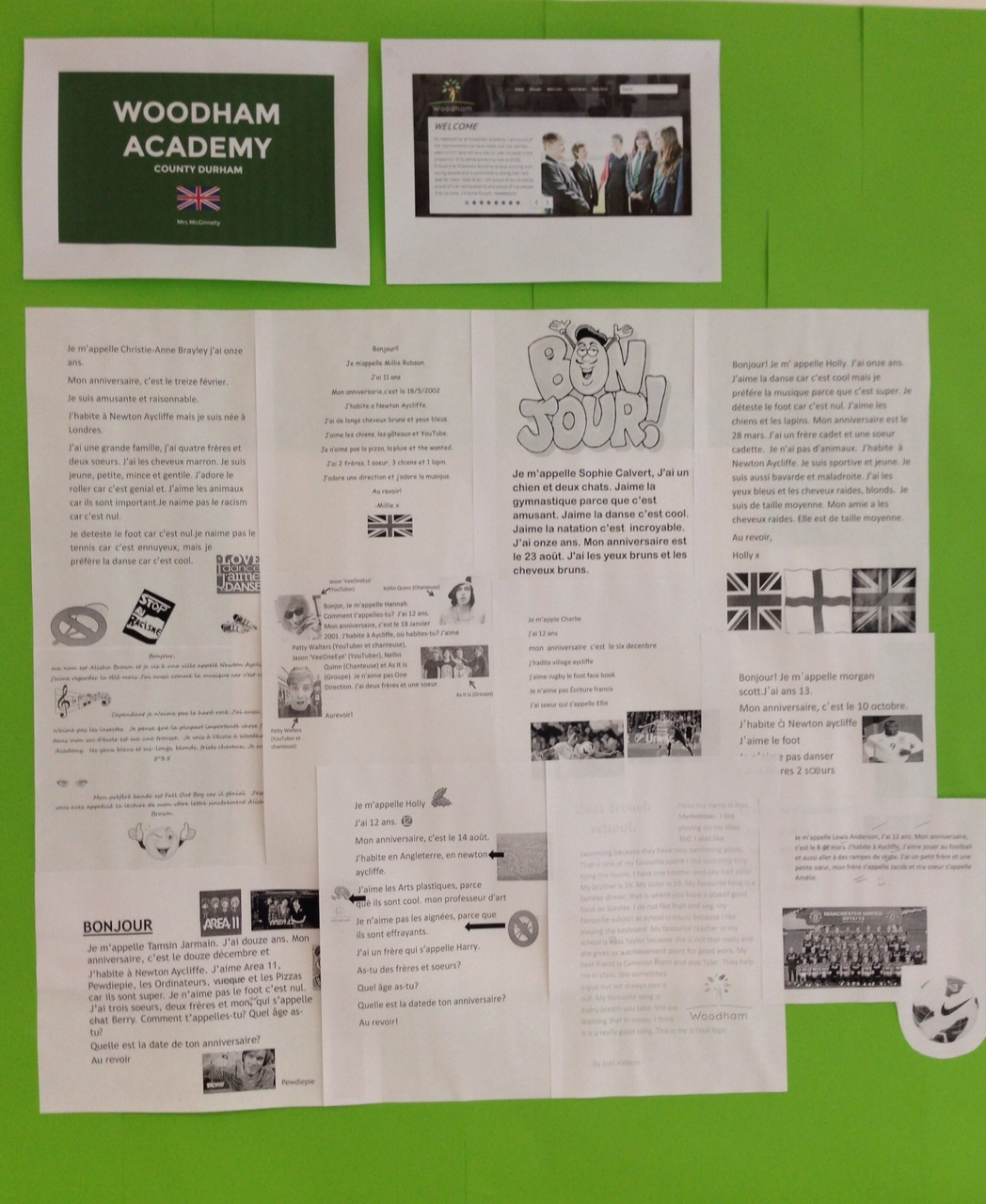 woodham academy's letters