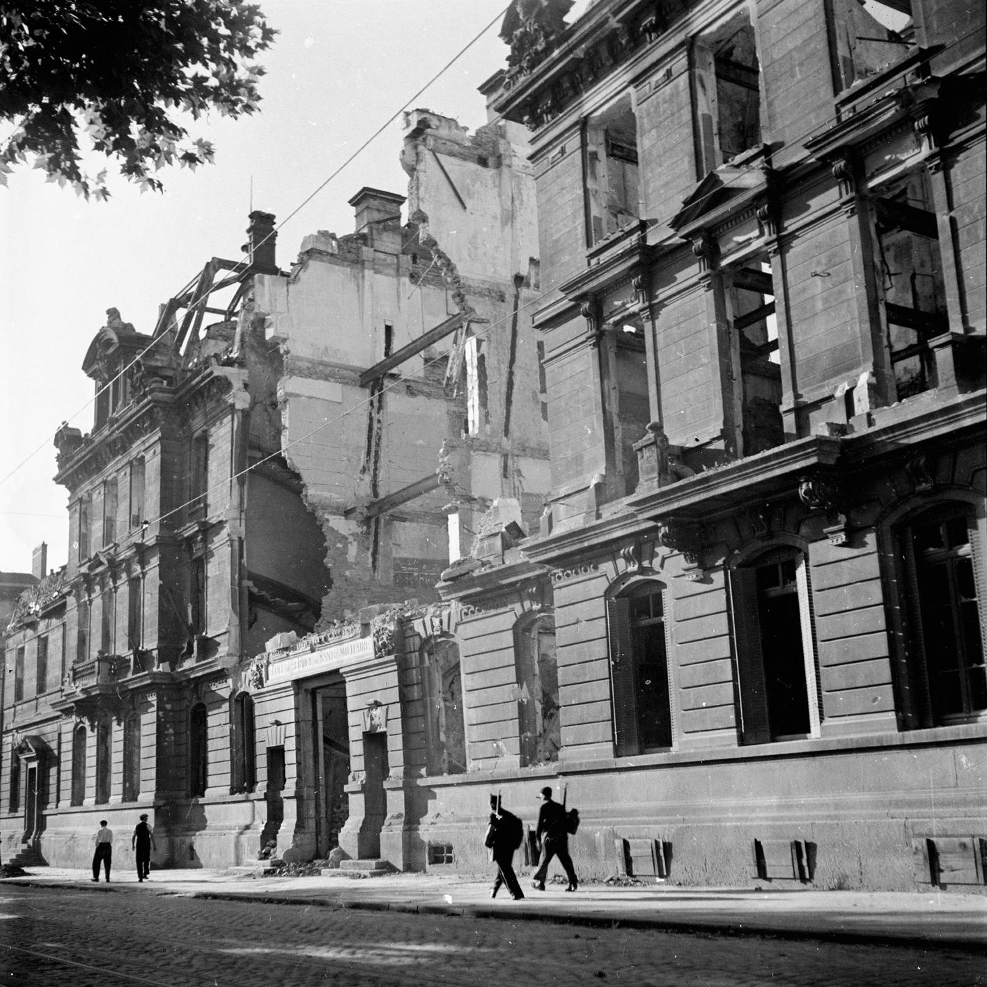 Bâtiment bombardé en 1944 par les Alliés
