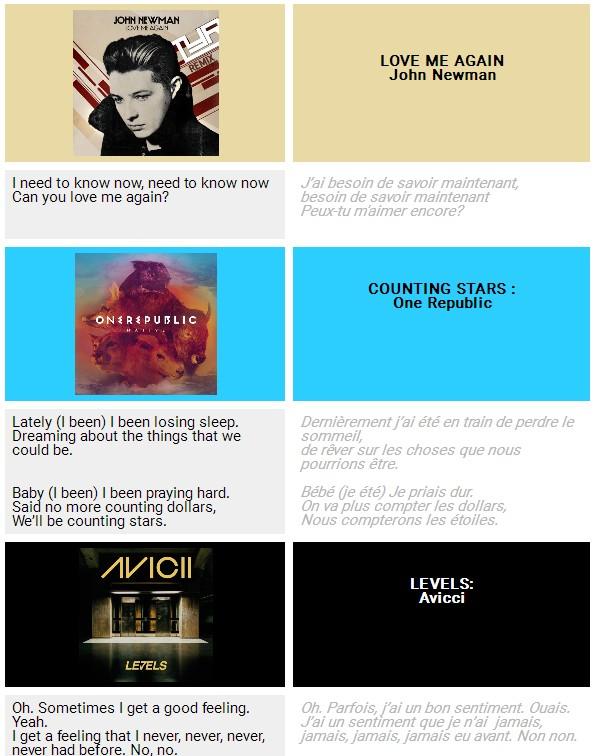 English I need songs PDF